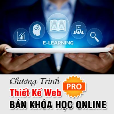 Thiết Kế Web Bán Khóa Học Đào Tạo Elearning Online PRO